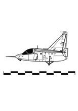 Ryan X-13 Vertijet. Outline Drawing