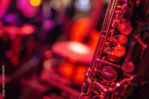Fotografie, Obraz  saxofones música instrumento jazz