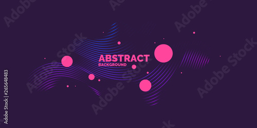 Modern vector abstract elements with dynamic waves. Canvas