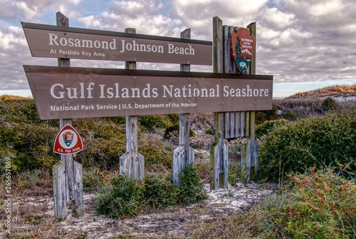 Photo The Gulf Islands National Seashore is located in Florida and Mississippi