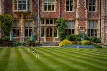 Croquet Green In Front Of House