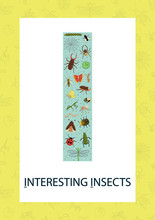 Colorful Alphabet Letter I. Phonics Flashcard. Cute Letter I For Teaching Reading With Cartoon Style Insects.