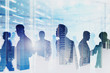 Team of computer engineers in server room, network