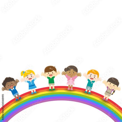 Keuken foto achterwand Regenboog 世界の子供達