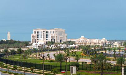 Fototapeta na wymiar Ministry of Presidential Affairs in Abu Dhabi, UAE