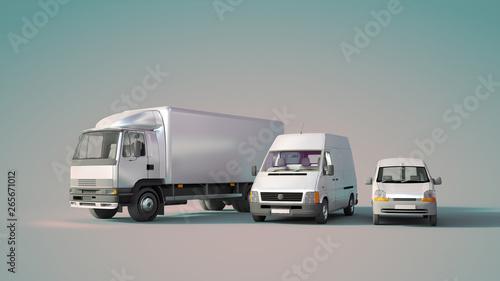 Photo  Road transportation fleet blue