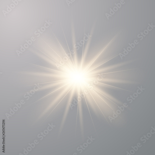 Fototapeta Gold beautiful light explodes obraz na płótnie