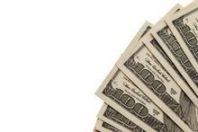 Fan Of Hundred Dollar Bills Is...