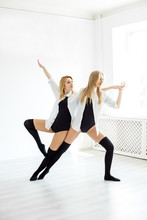 A Duet Of Dancers In Training. Concept Of Sport, Dance And Healthy Lifestyle.
