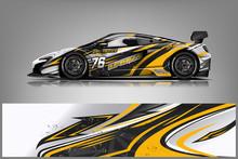 Sport Car Racing Wrap Design. Vector Design.