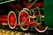 Warsaw, Poland - April 29, 2019: Mock Retro Train In Miniature In A Railway Museum.