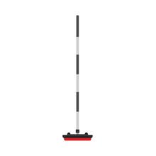 Сurling Broom Stick Sport Equipment Club Game Stone Vector Icon. Ice Winter Competition Exercise  Illustration Slide