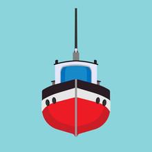 Tug Boat Vector Icon Transport...