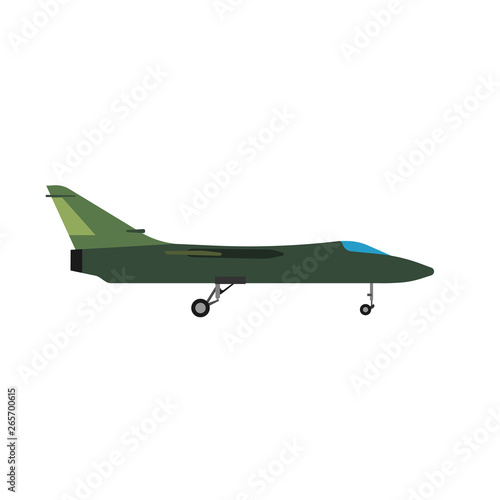 Photo  Military aircraft side view vector icon aviation fighter jet