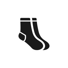 Socks Icon. Christmas Socks Il...