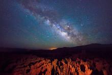 Milky Way Above Bryce Canyon, Utah, USA.