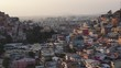 Aerial view of the sunrise on Cerro Santa Ana in Guayaquil City Ecuador