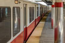 Subway Train Waiting At Dirty ...
