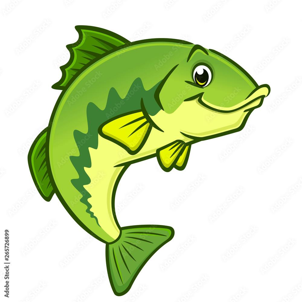Fototapeta Cartoon Largemouth Bass