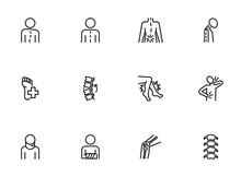 Orthopedics Icon Set. Line Ico...