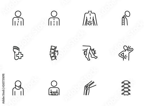 Fotografía Orthopedics icon set