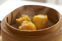 Close Up Hot Cantonese Shumai ...