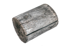 Wood Log Isolated On A White B...