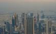 Aerial view of Dubai City at sunrise