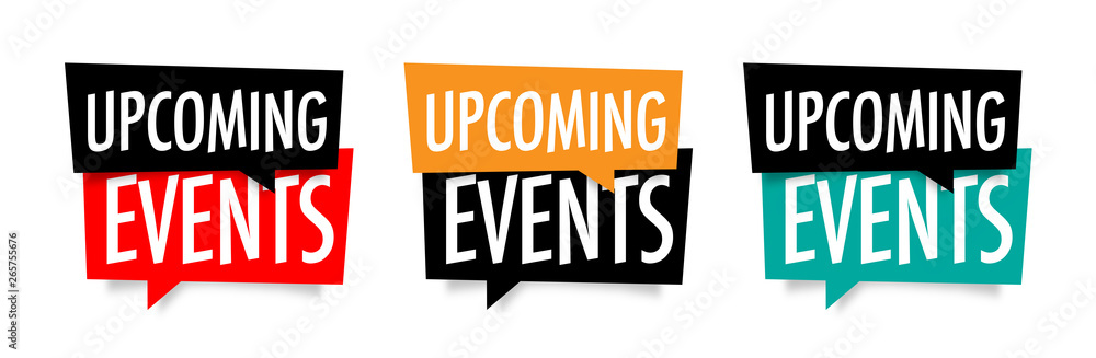 Fototapeta Upcoming events
