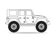 US Geländewagen Silhouette Ko...