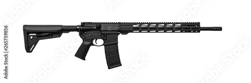 Photo Modern automatic rifle isolated on white