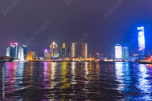 Recess Fitting China The bund of Shanghai huangpu river of tall buildings in the evening.
