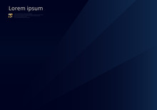 Abstract Template Dark Blue Geometric Triangles Background Luxury Premium Style.