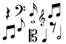 Big Set Of Music Notes. Vector...