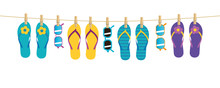 Colorful Pattern Flip Flops An...
