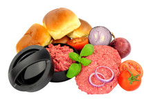 Freshly Made Raw Beefburgers W...