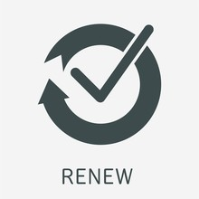 Renewal. Vector Icon Isolated ...