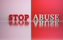Words Stop Abuse In Red And Wh...