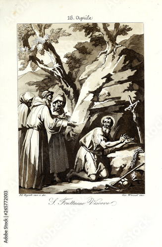 Christian illustration. Old image © ruskpp