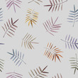 Leaves watercolor bright seamless pattern. Be used to greeting card, poster, textile, wallpaper, print, branding.