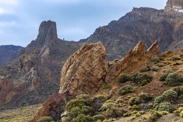 View of the landscape in Teide National Park