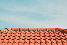 Tile Roof On The Background Of...