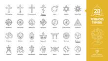Religious Symbol Editable Stro...