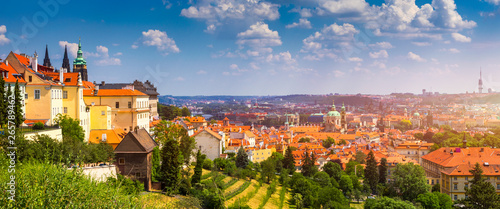 Prague Castle and Lesser Town panorama Canvas Print