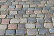 Detailed close views on cobblestone streets and sidewalks in different perspectives