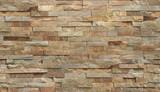 Fototapeta Kamienie - Stripe stone wall pattern, seamless texture.