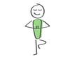 Stick Figure - Man Yoga