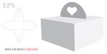 Cake Box With Handle Heart Tem...