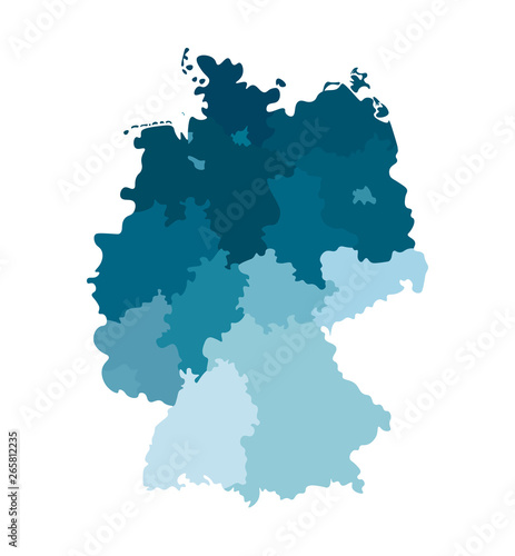 Fotografie, Obraz Vector isolated illustration of simplified administrative map of Germany