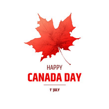 Happy Canada Day Poster. Canad...